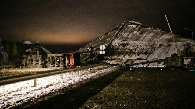 Рухнул мост Оренбург на Терешковой