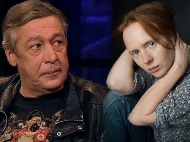Дарья Белоусова в машине с Ефремовым